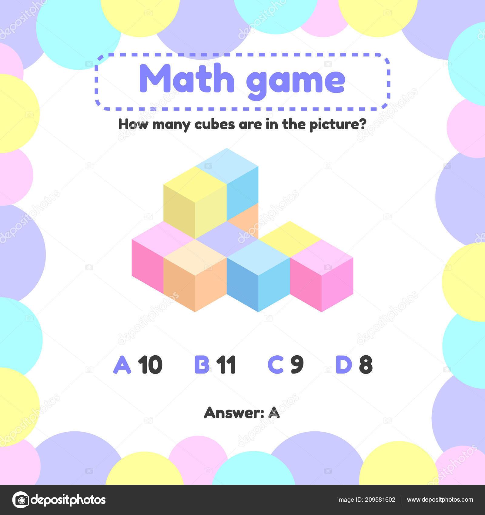 Illustration Vectorielle. Logique Mathématique Jeu Pour Les pour Jeux Enfant Maternelle