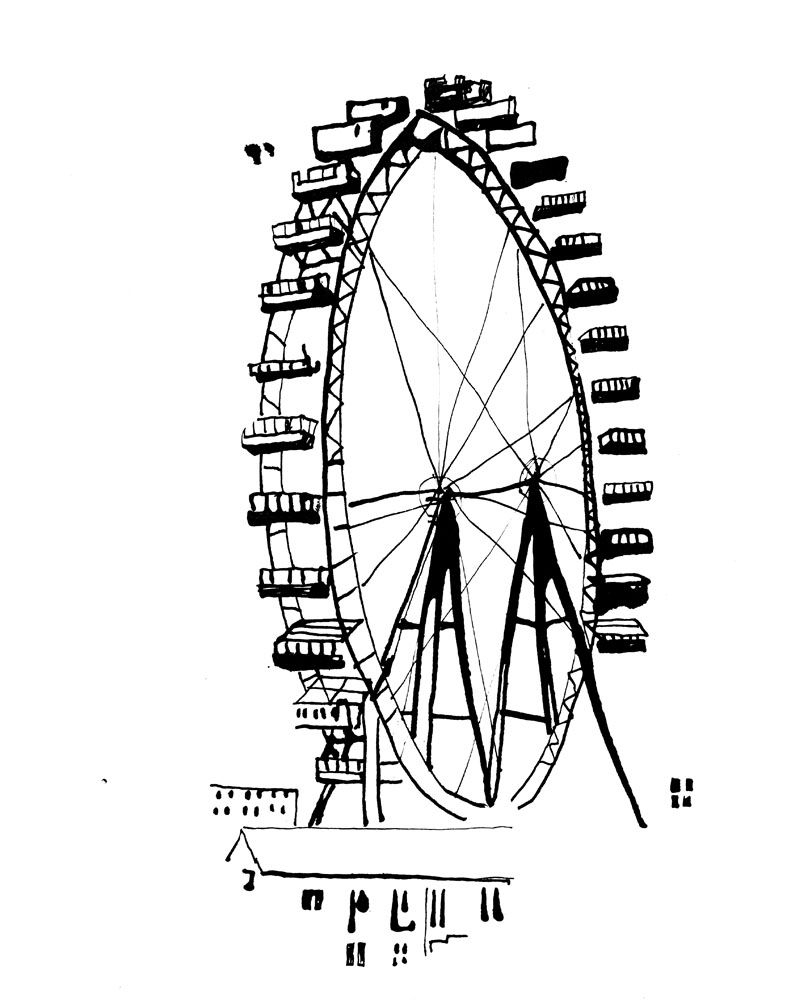 Illustrator Stina Johnson | Grande Roue, Illustration dedans Coloriage Grande Roue