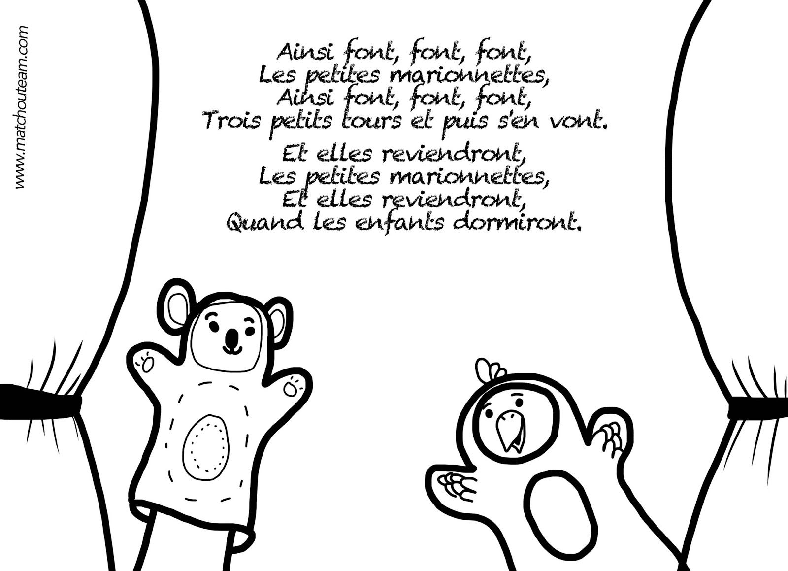 Ilustration Comptine Ainsi Font, Font, Font | Comptines serapportantà Les Petites Marionnettes Chanson