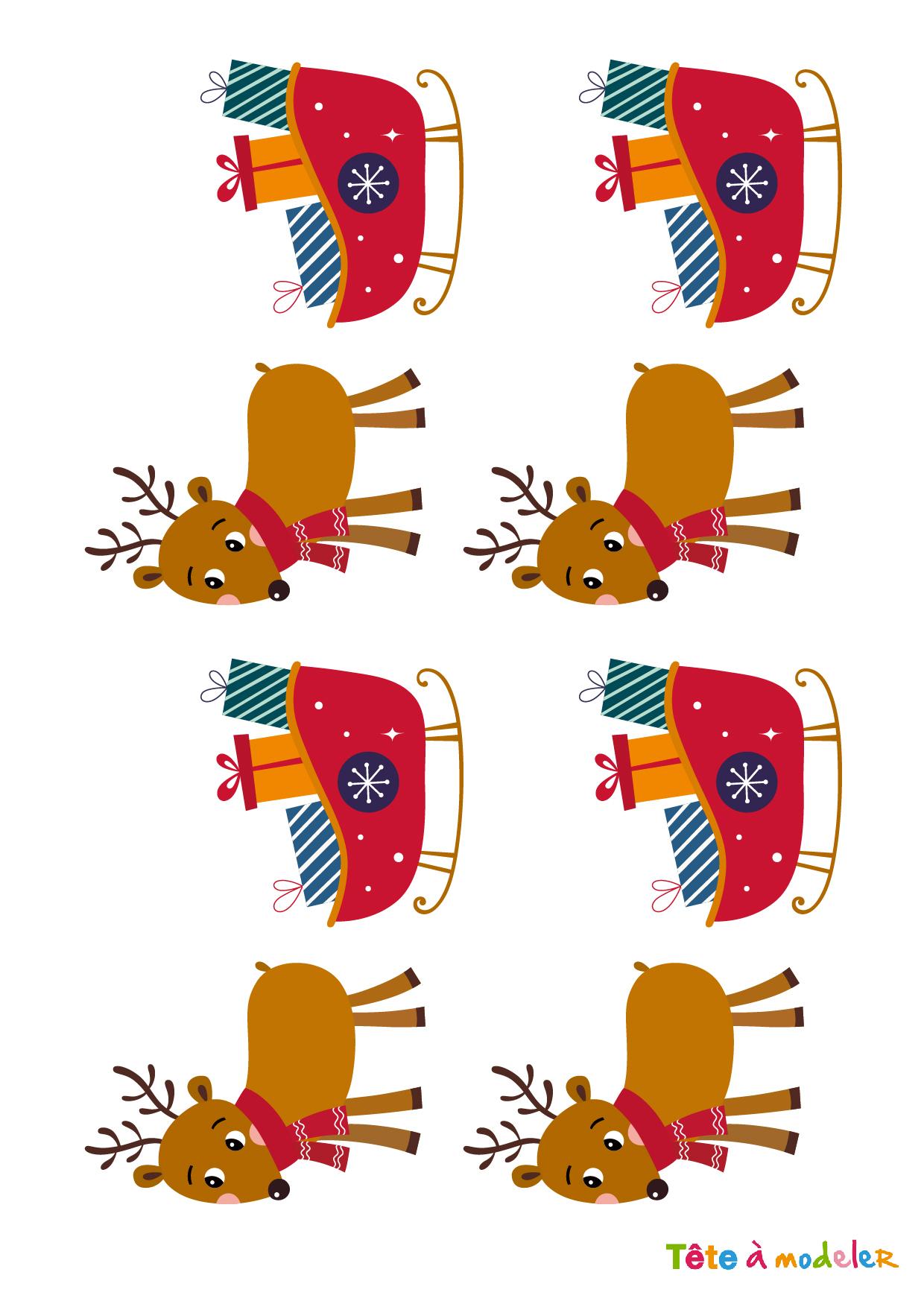 Image De Noel : Planche Images Petits Peres Noel - Noel Tete à Musique Du Père Noël