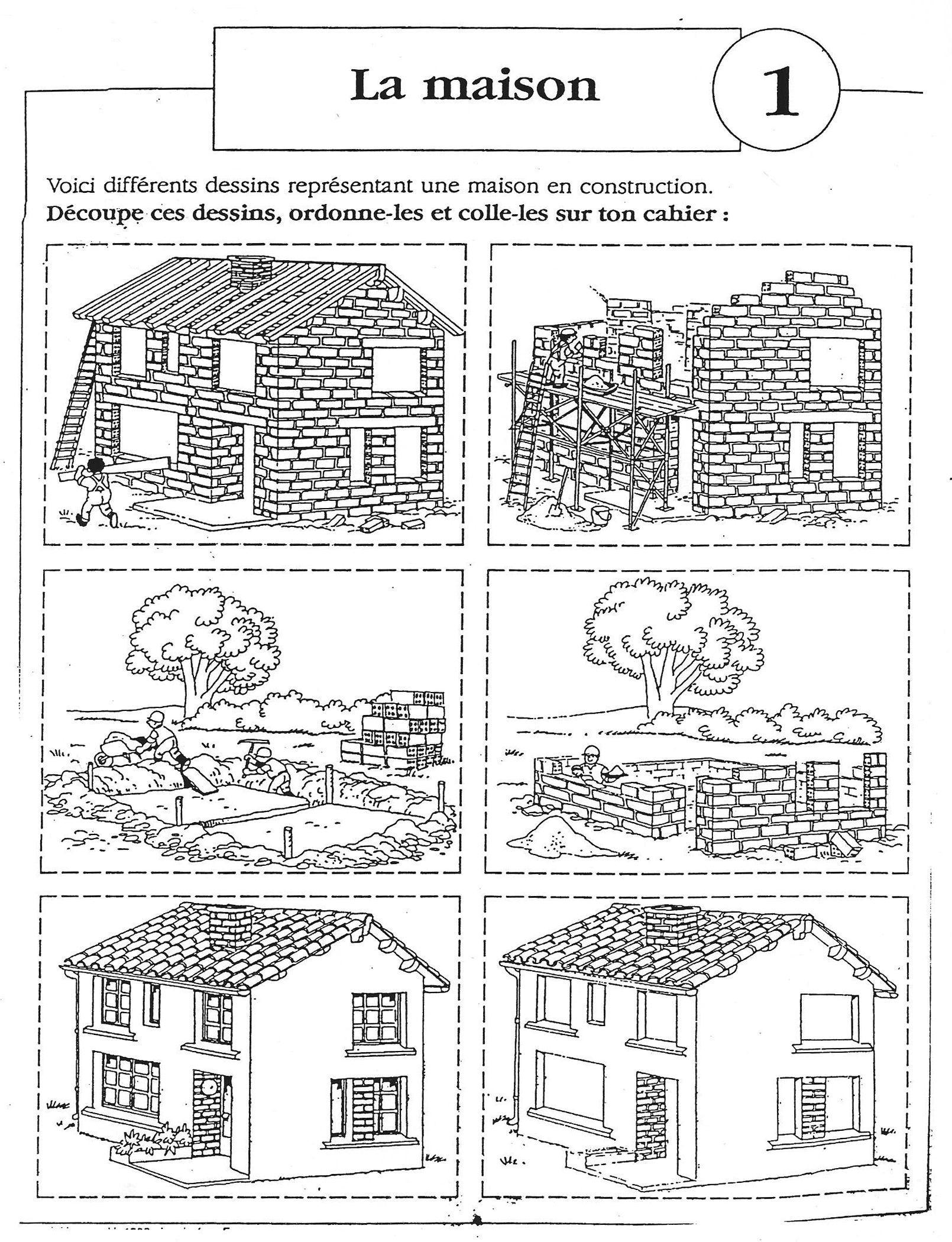 """Images Séquentielles """"la Construction De La Maison"""" (6 tout Images Séquentielles Maternelle"""
