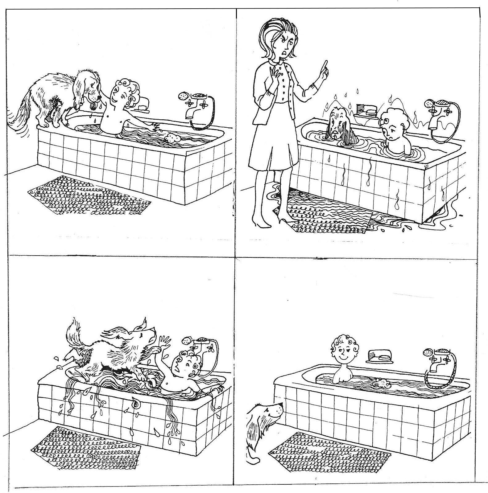 """Images Séquentielles """"un Bain Éclaboussant"""" (4 Images avec Images Séquentielles Maternelle"""