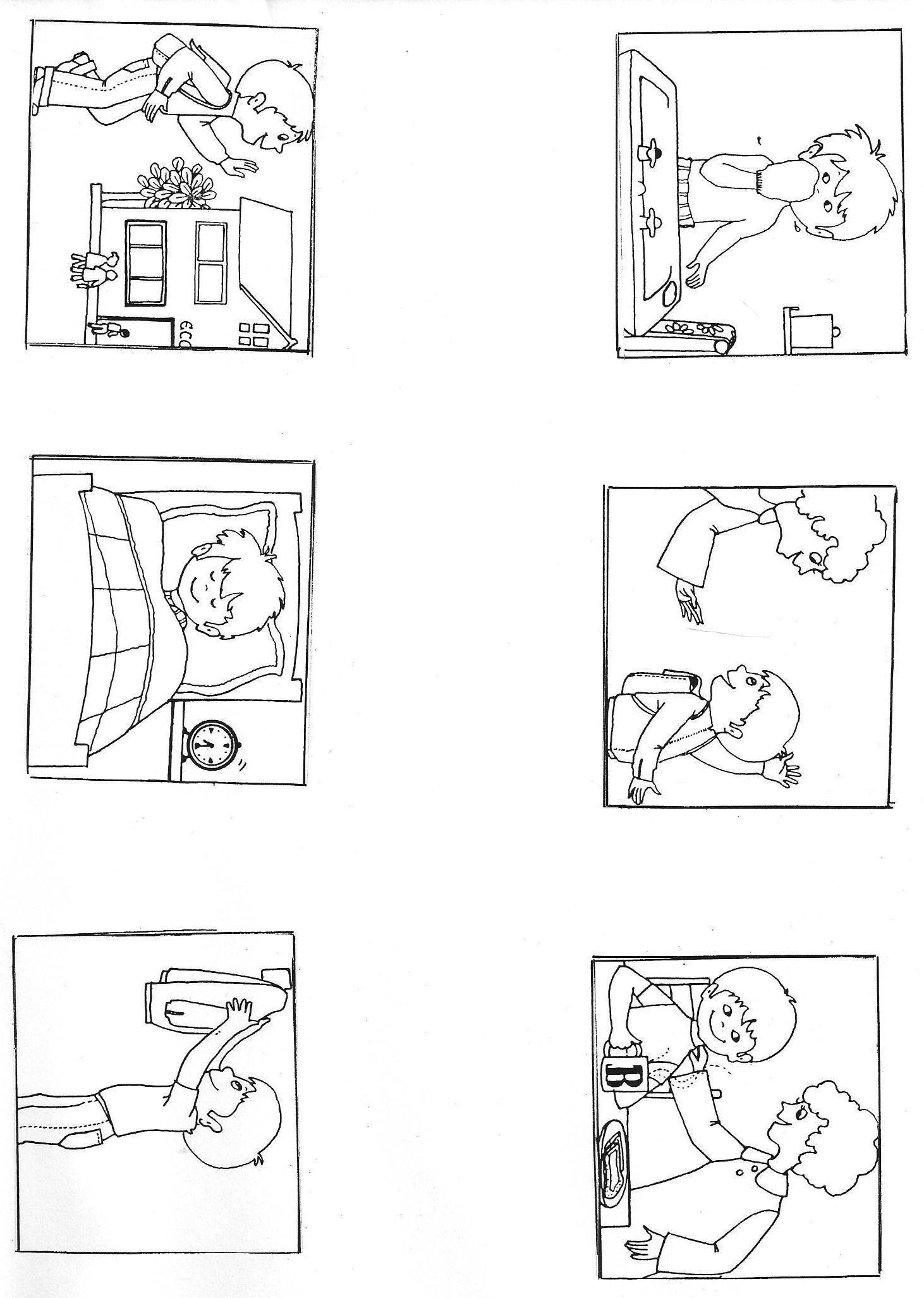"""Images Séquentielles """"une Journée D'école"""" (6 Images pour Images Séquentielles Maternelle"""