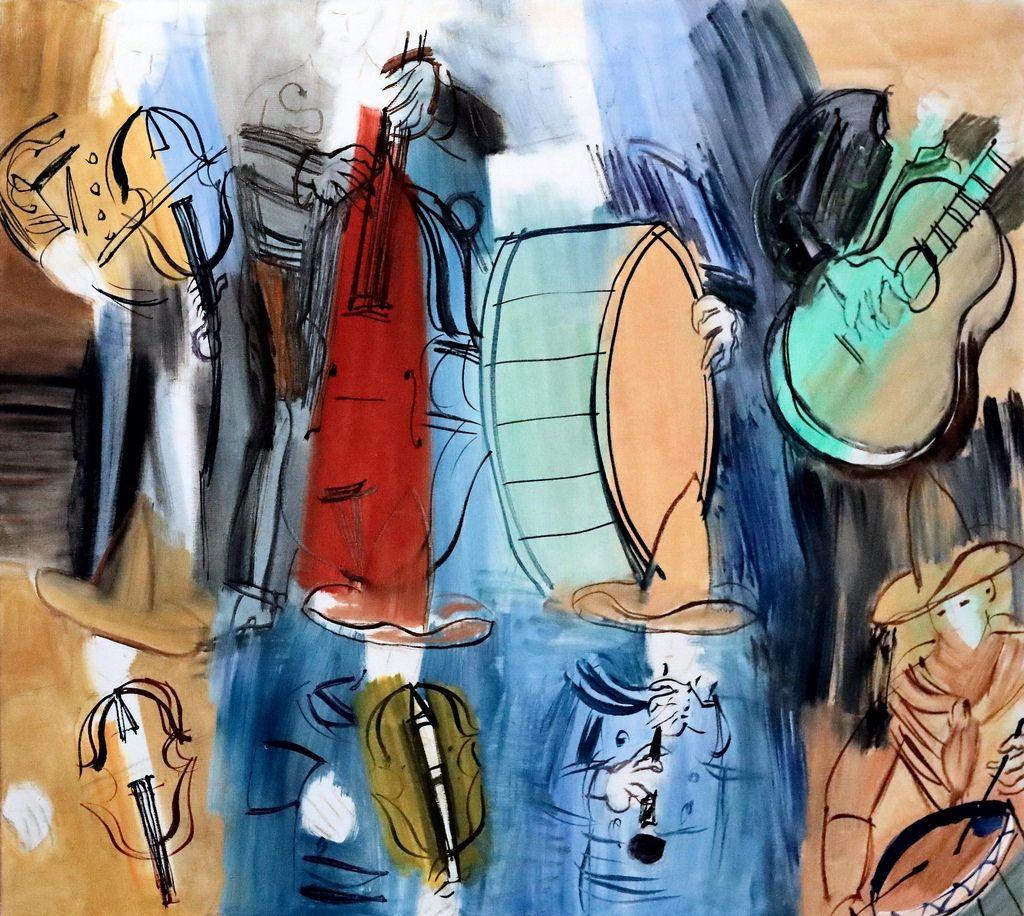 Img_8341 Raoul Dufy 1877-1953 Paris Les Musiciens Mexicains concernant Musicien Mexicain
