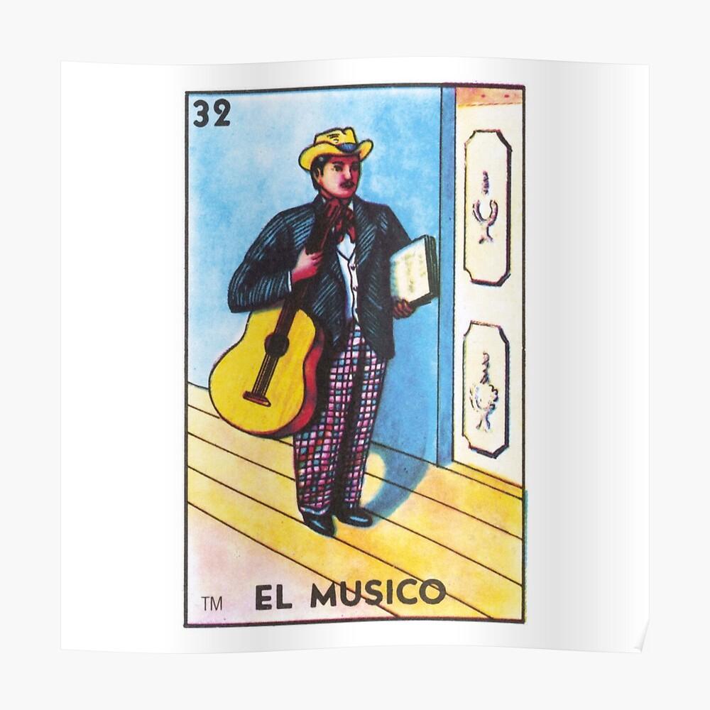 Impression Artistique « Carte De Musicien De Bingo Mexicain encequiconcerne Musicien Mexicain