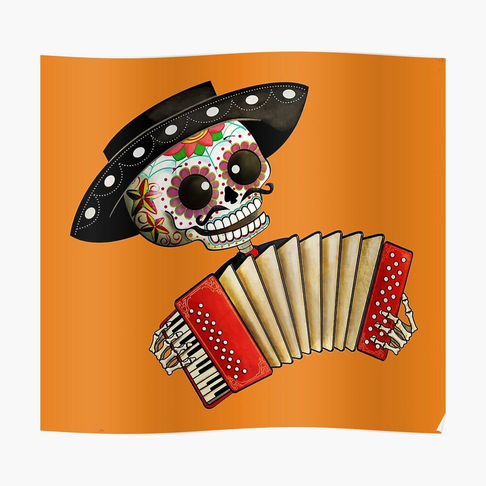 Impression Artistique « Musicien Squelette Mexicain », Par serapportantà Musicien Mexicain