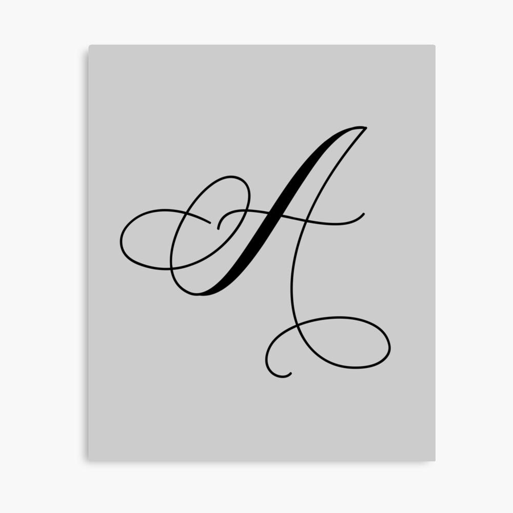 Impression Photo « Lettre Majuscule De Calligraphie A », Par tout T Majuscule En Cursive