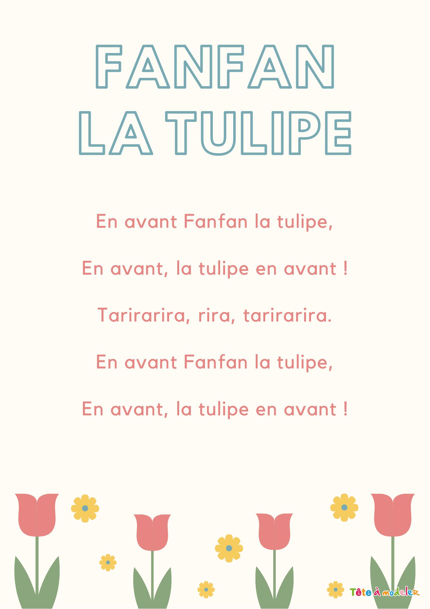 Imprimer La Chanson Fanfan La Tulipe Texte Et Partition encequiconcerne Chanson A Imprimer