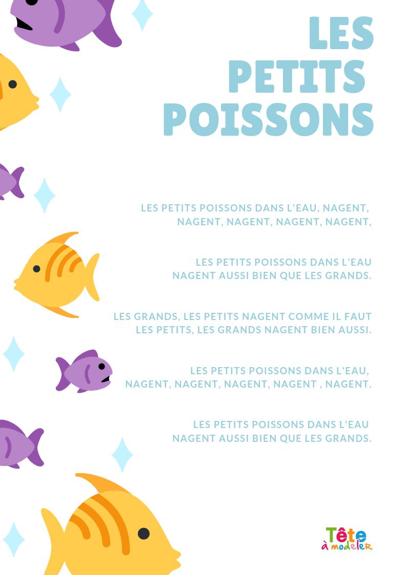 Imprimer Le Texte De La Chanson Les Petits Poissons destiné Petit Moulin Chanson