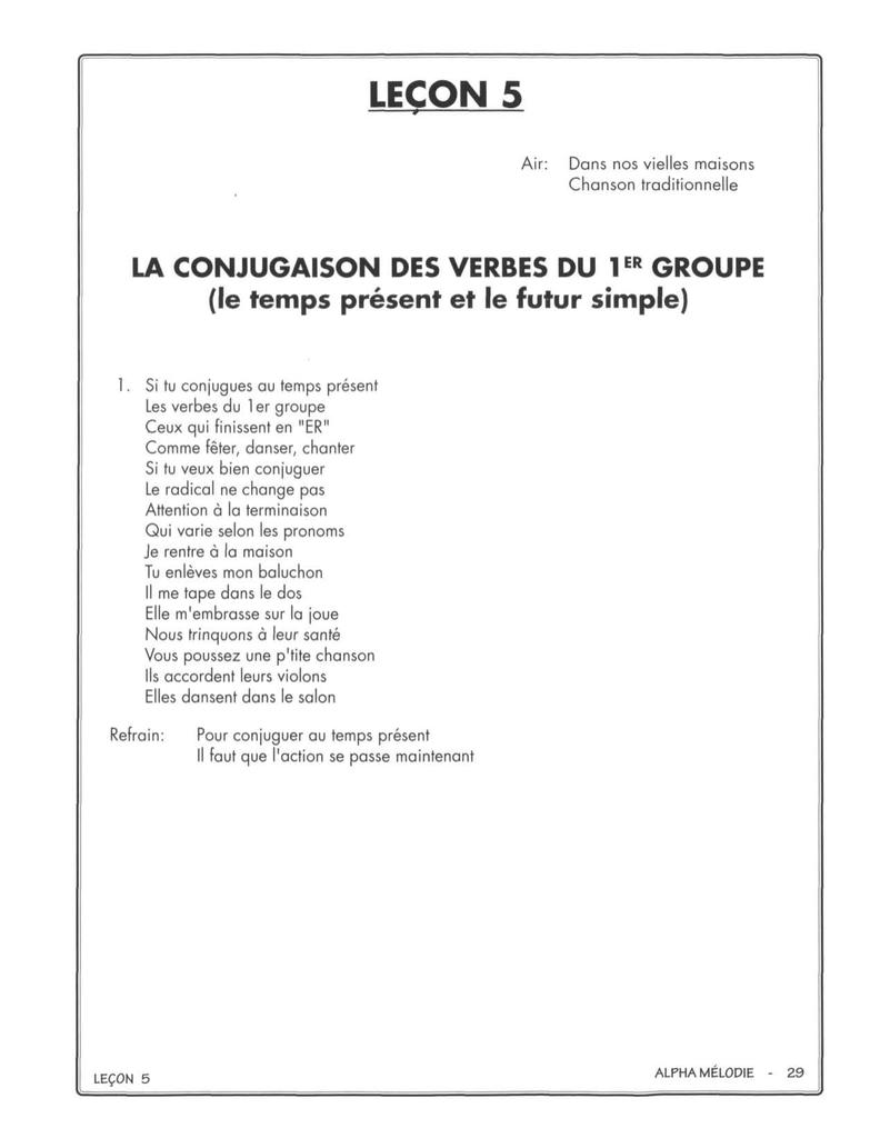 Imprimer Les Exercices De La Leçon 5 destiné Chanson A Imprimer