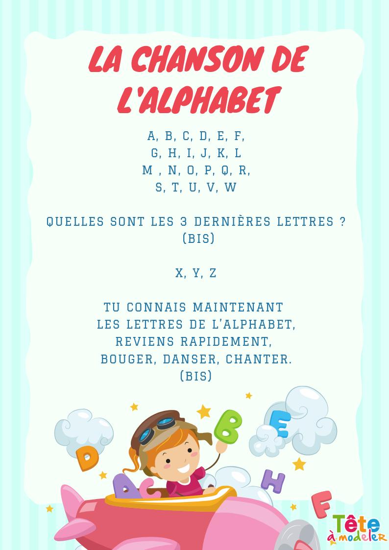 Imprimer Les Paroles De La Chanson De L'alphabet - Chanson dedans Chanson A Imprimer