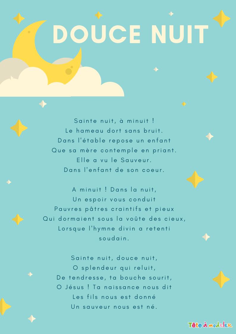 Imprimer Une Chanson Douce Nuit Illustrée Version 2- Chanson encequiconcerne Chanson De Noel En Chinois