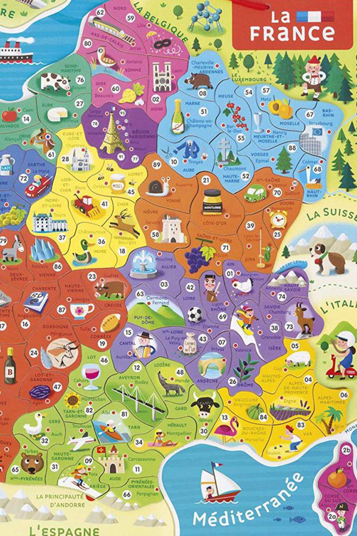 Janod > Puzzles Éducatifs > Puzzles Par Thèmes > Puzzles avec Carte De France Pour Les Enfants