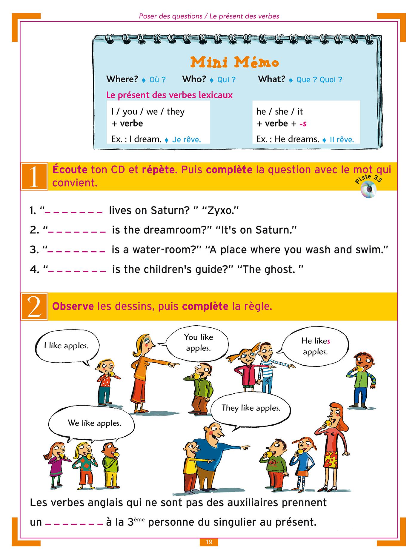 J'apprends L'anglais Avec Tommy Et Julie - Cm1 Et Cm2 dedans Exercice Cm2 Gratuit