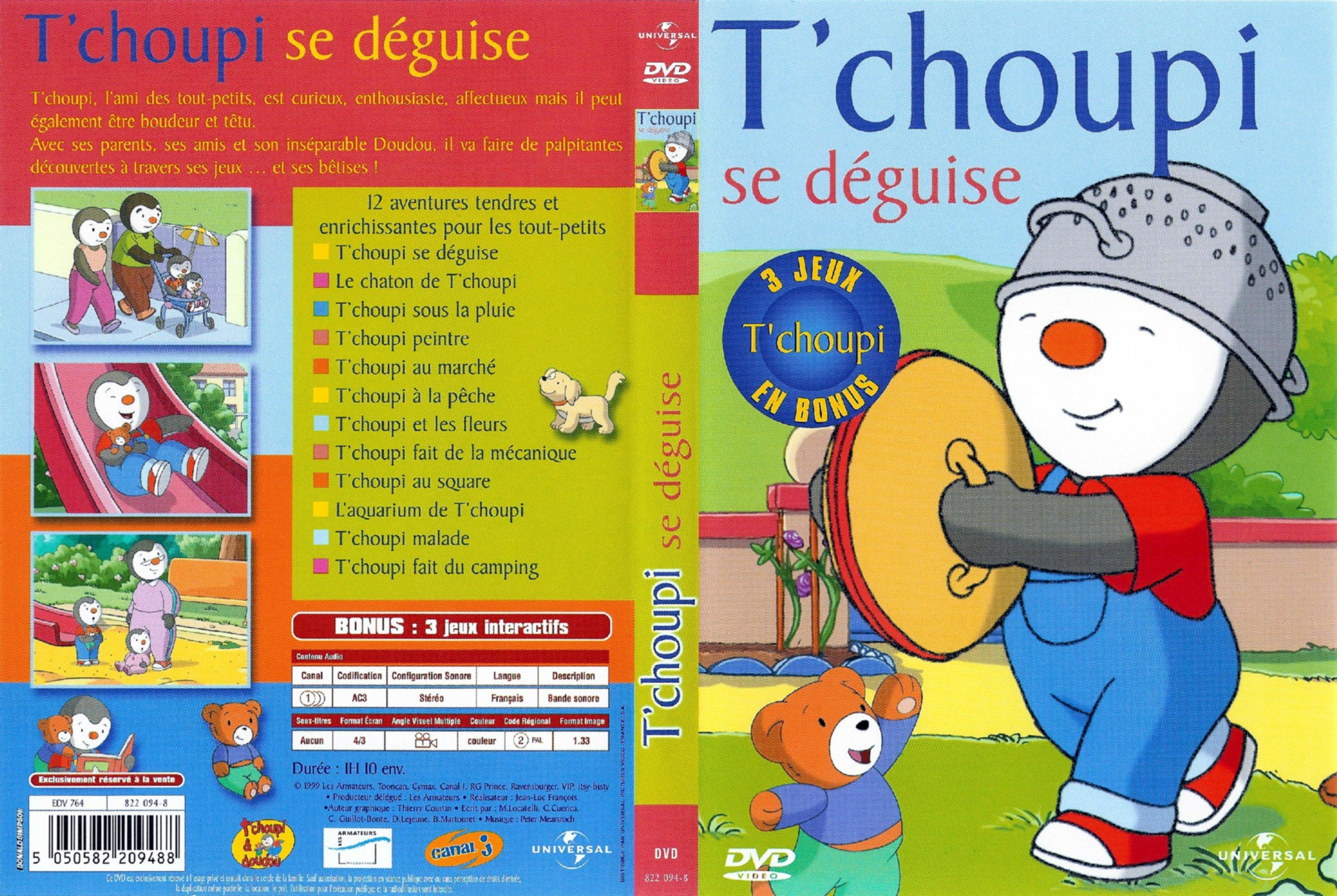 Jaquette Dvd De T'choupi Se Déguise - Cinéma Passion intérieur Tchoupi Au Marché