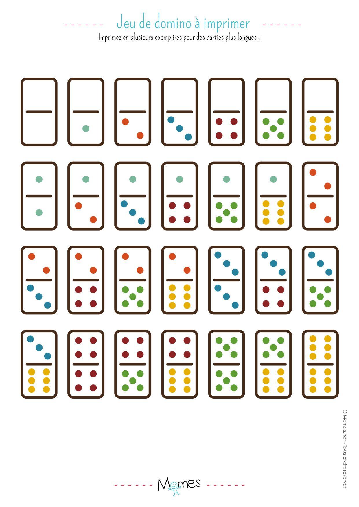 Jeu De Dominos À Imprimer   Jeux A Imprimer, Jeux Et Jeux À destiné Jeux De Maternelle À Imprimer