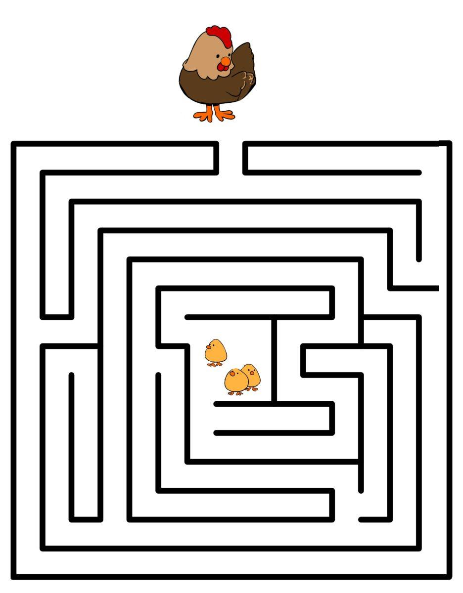 Jeu De Labyrinthe Pour Les Petits - Family Sphere - Garde D à Jeux De Concentration À Imprimer