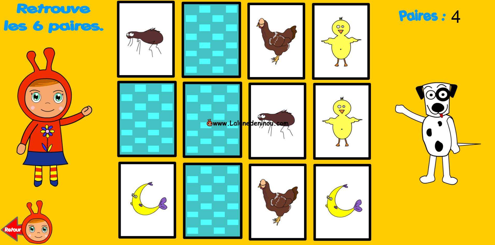 Jeu De Memoire Cartes Identiques - Memory - Jeux Pour avec Jeux De Memoire Enfant