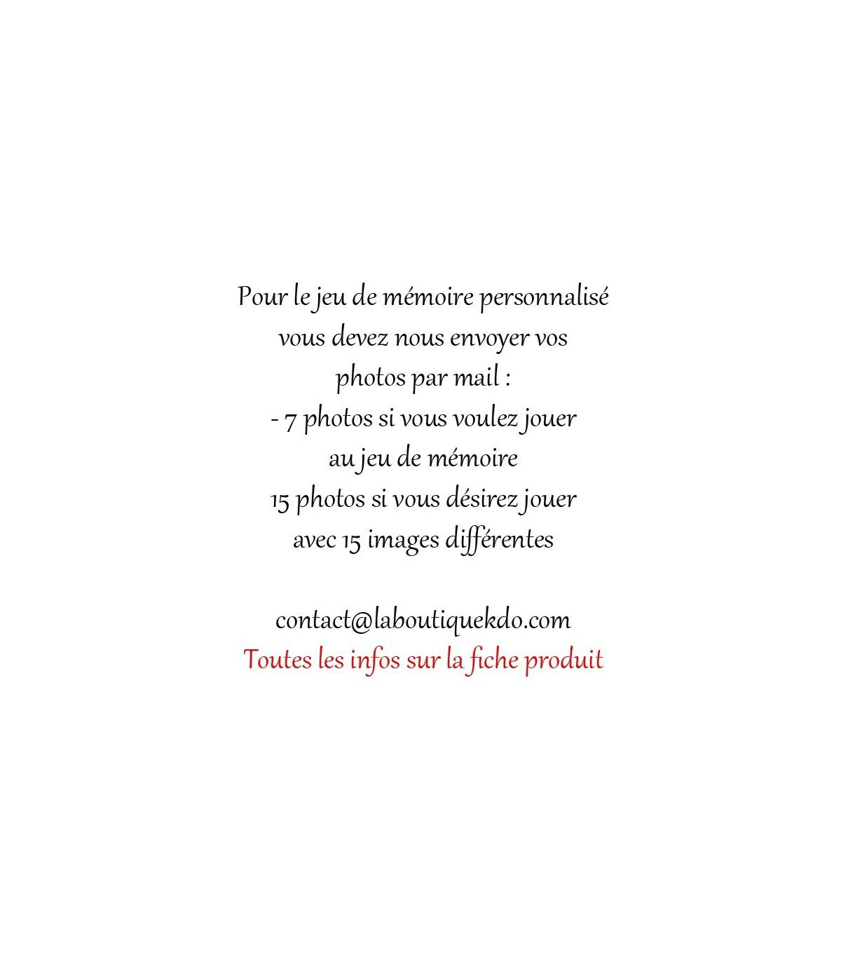 Jeu De Mémoire Personnalisé Photo serapportantà Jeux De Mémoire Visuelle À Imprimer