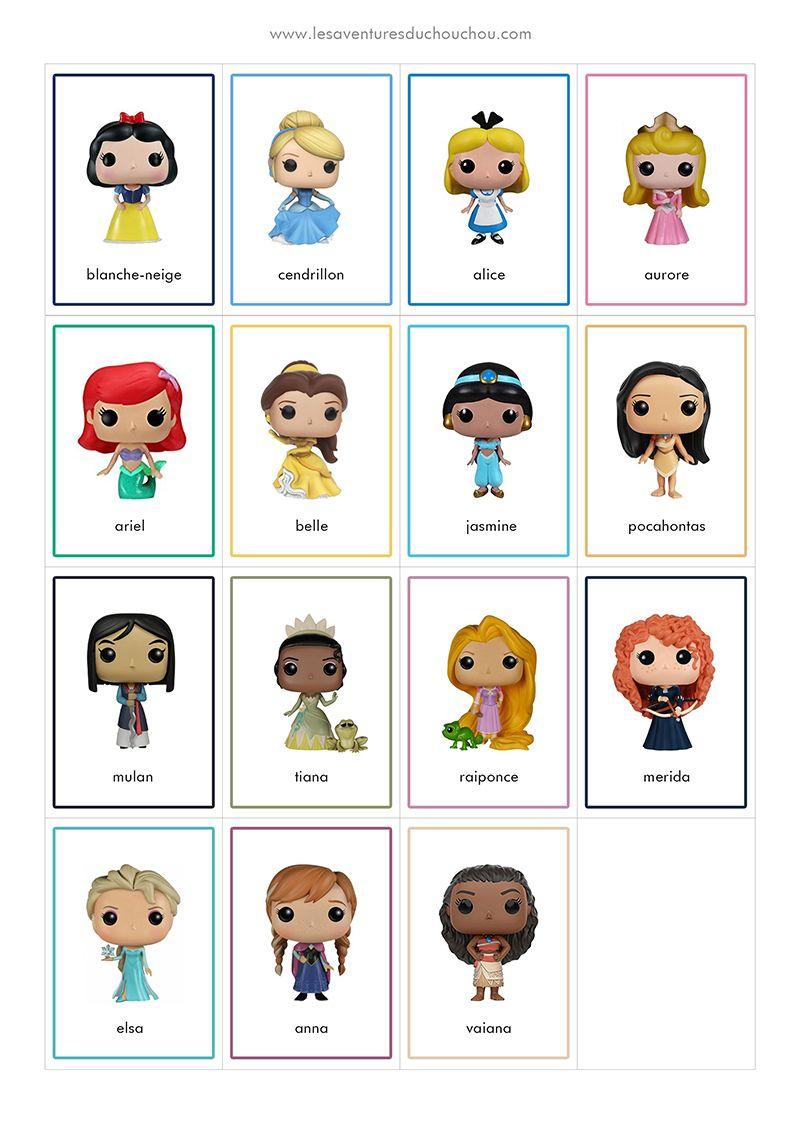 Jeu De Memory À Imprimer / Memory Game Printable (Disney destiné Jeux De Mémoire Visuelle À Imprimer