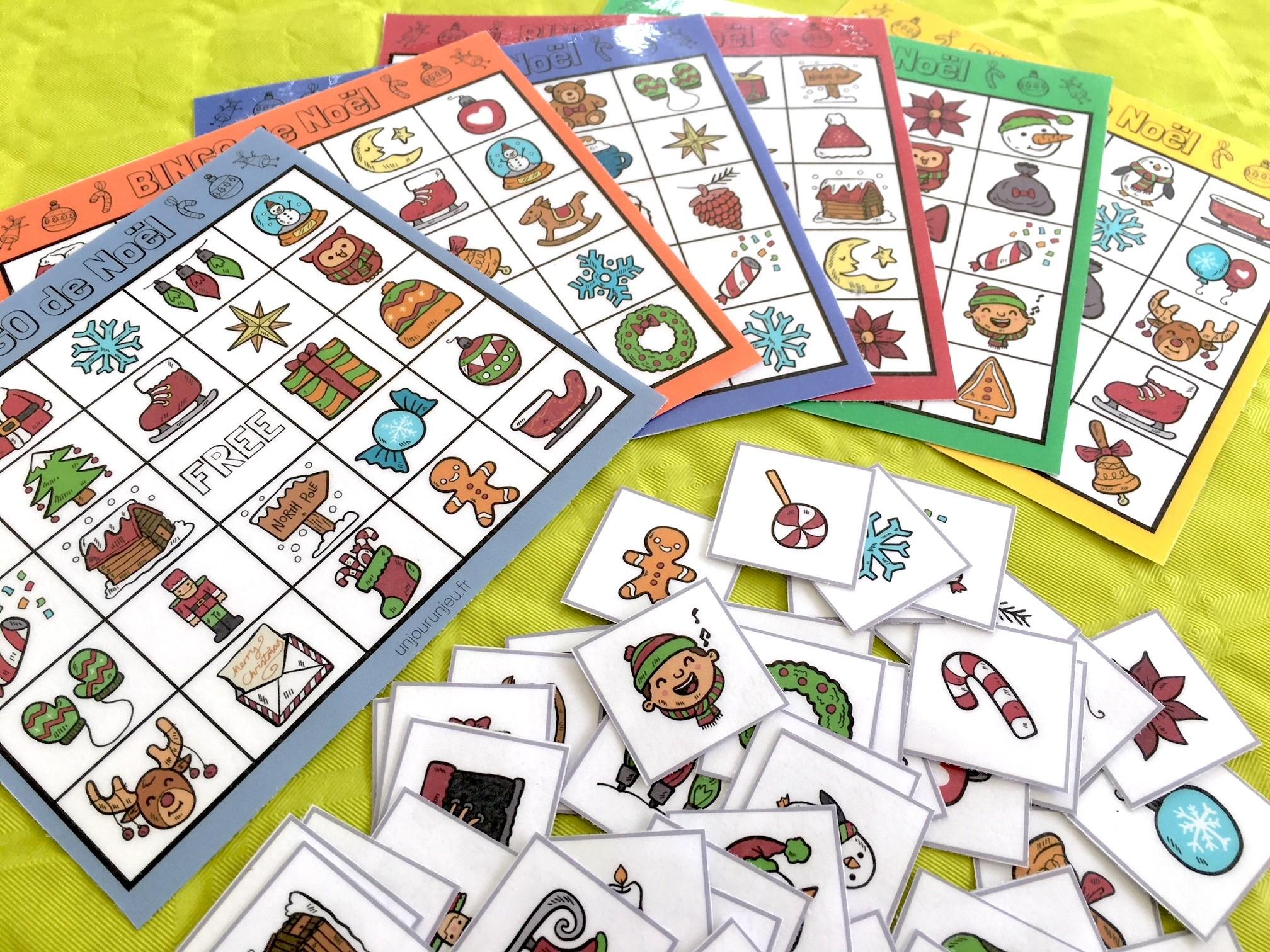 Jeu De Noël : Bingo À Télécharger Gratuitement Pour Vos Enfants serapportantà Jeux Facile Pour Petit Gratuit