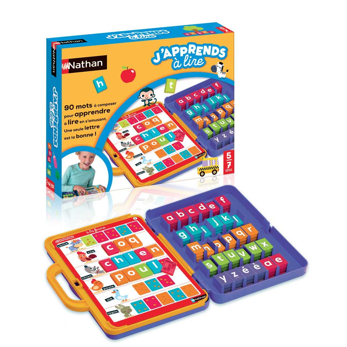 Jeu De Société J'apprends À Lire intérieur Jeux De Lettres Enfants