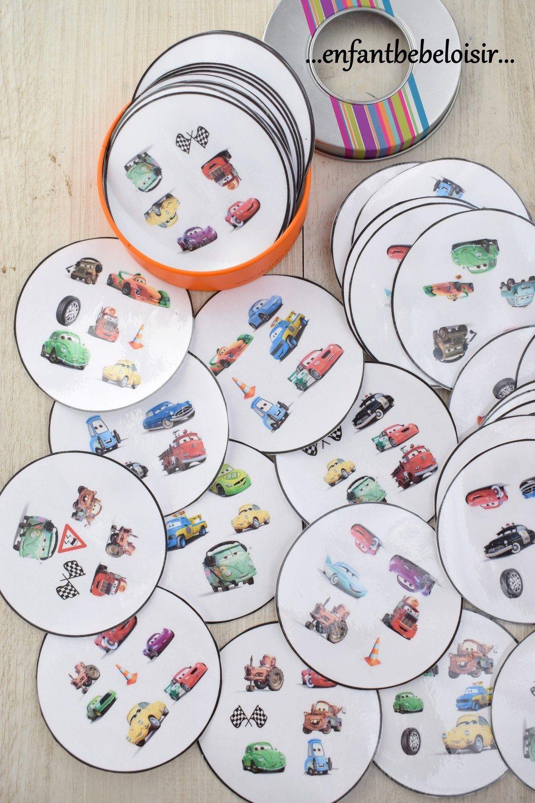 Jeu Dobble Cars Pixar À Imprimer - Gratuit (Avec Images encequiconcerne Jeux Enfant 3 Ans Gratuit