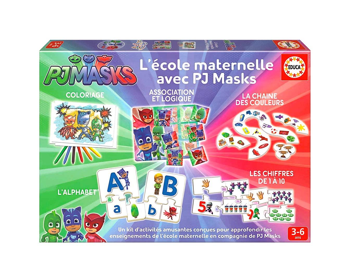 Jeu Éducatif Complet Des Acquisitions De La Maternelle - Pyjamasques intérieur Jeux Educatif 4 Ans