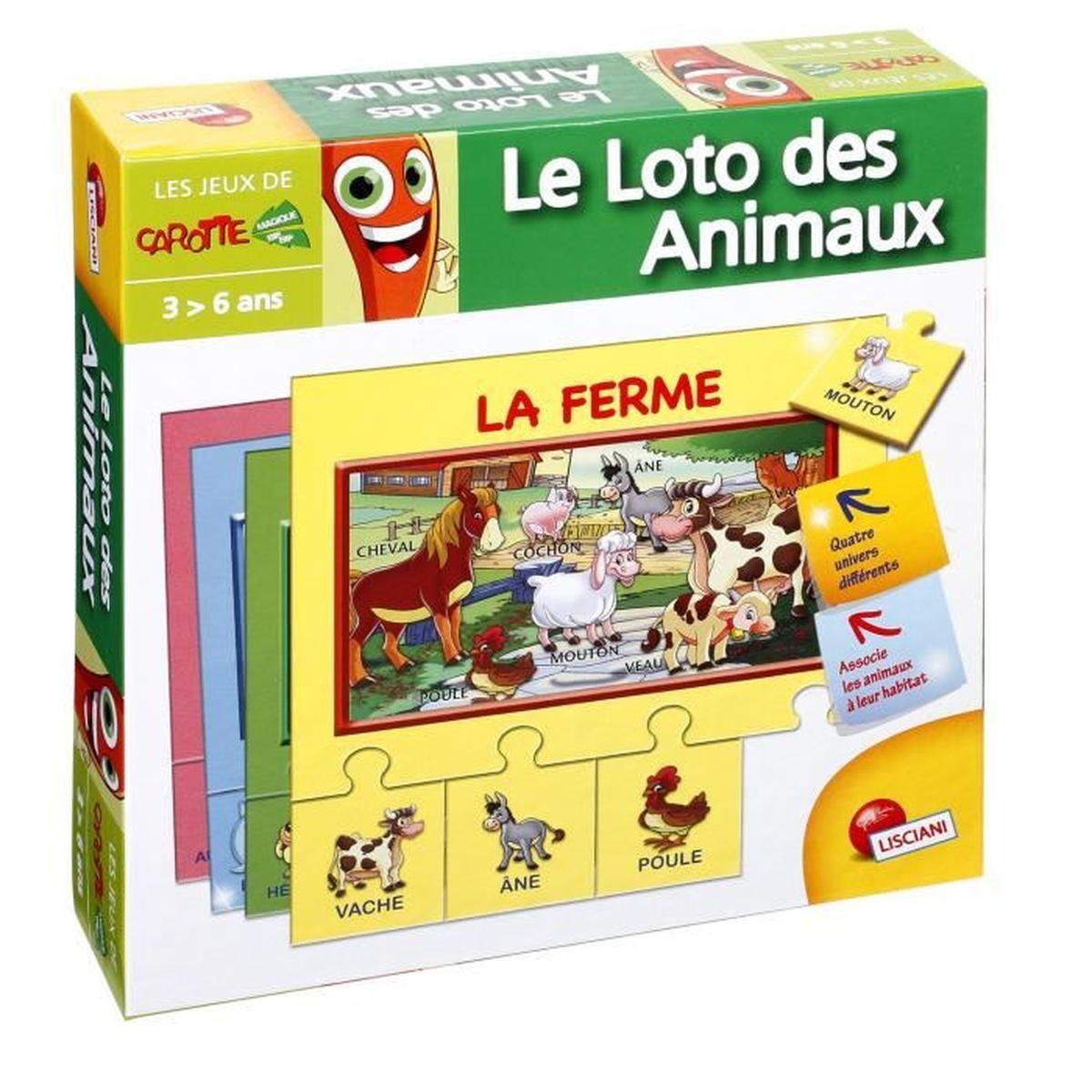 Jeu Éducatif Puzzle Mes 1Ers Mots - Groupe Le Loto Des Animaux Jeux Educatif 3 Ans