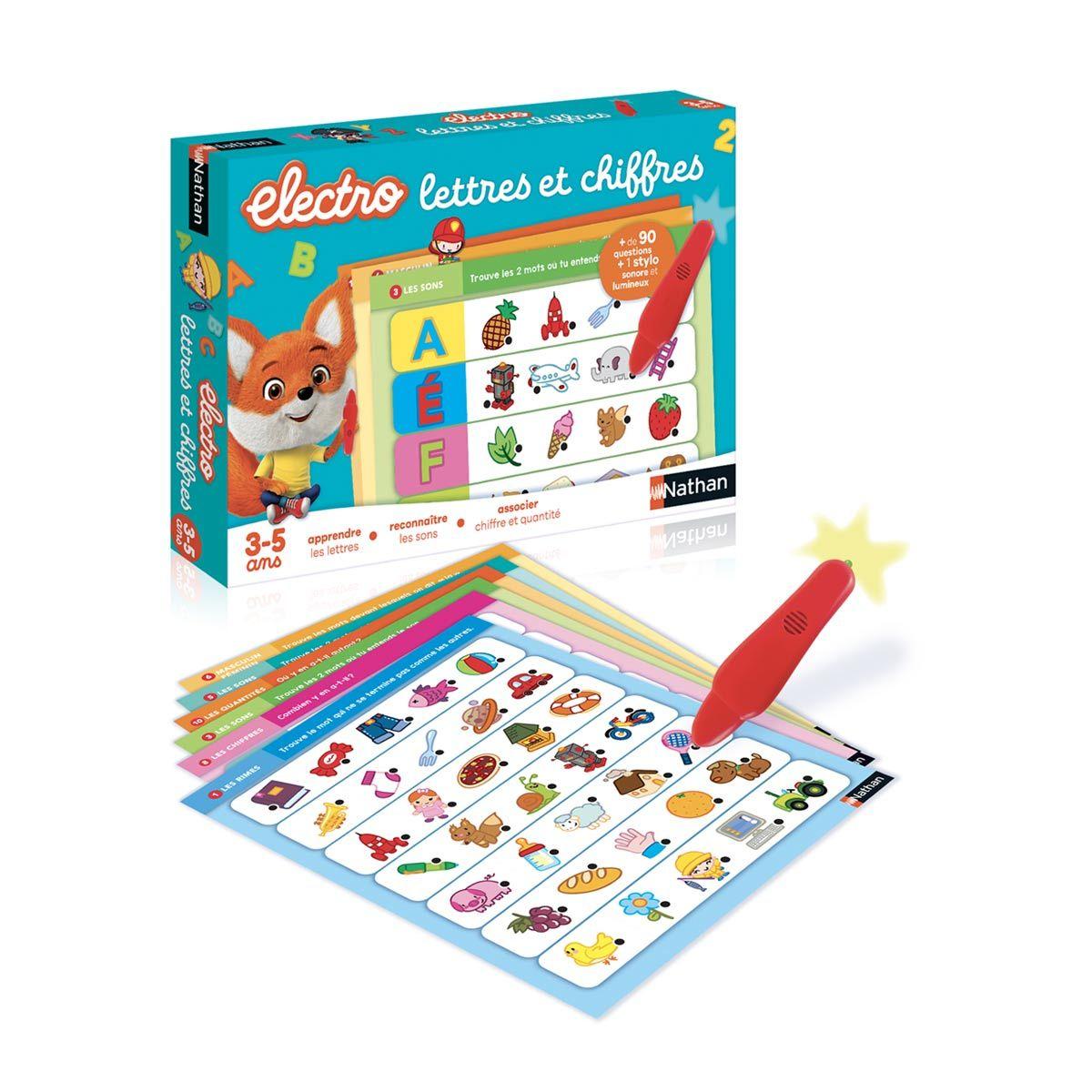 Jeu Electro Lettres Et Chiffres Nathan | Jeux Electronique avec Jeux De Lettres Enfants