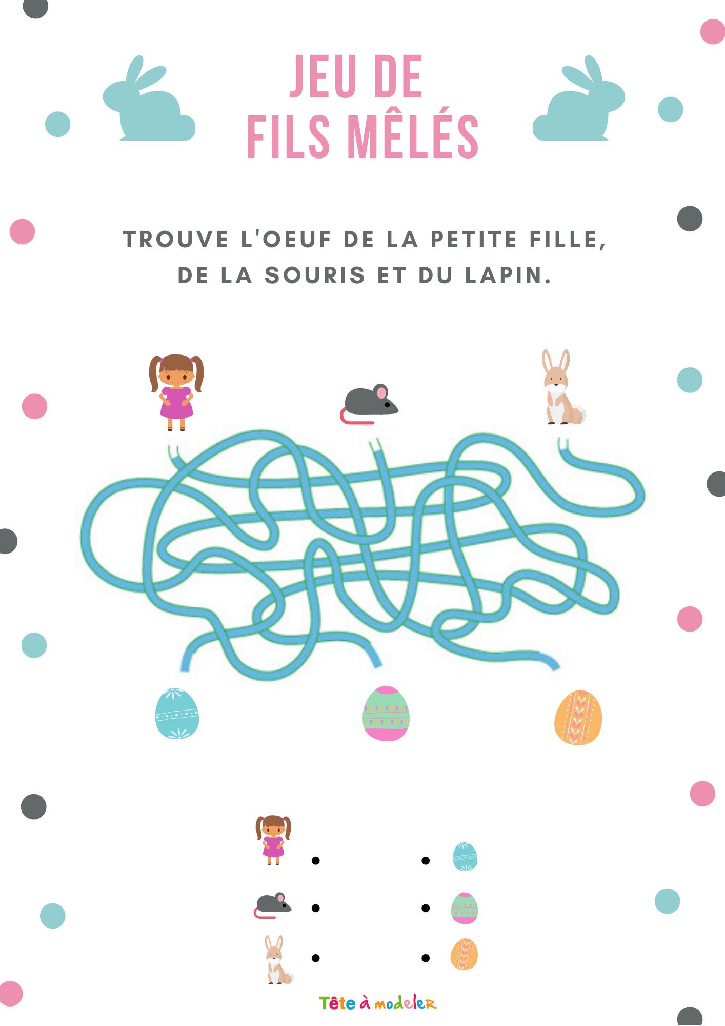 Jeu Gratuit : Fils Mêlés: La Chasse À L'oeuf - Tête À Modeler intérieur Jeux Petite Fille Gratuit