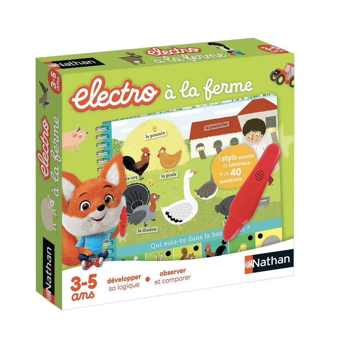 Jeu Interactif Electro Livre-Jeu À La Ferme Nathan dedans Jeux Pour Enfant De 3 Ans