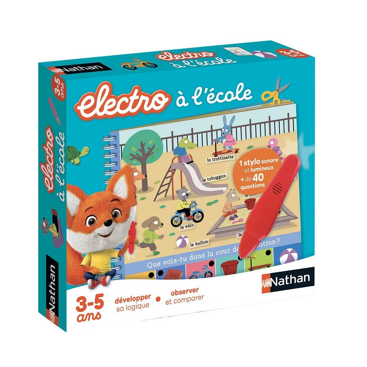 Jeu Interactif Electro Livre-Jeu À L'école Nathan | Jeu intérieur Jeux Pour Enfant De 5 Ans