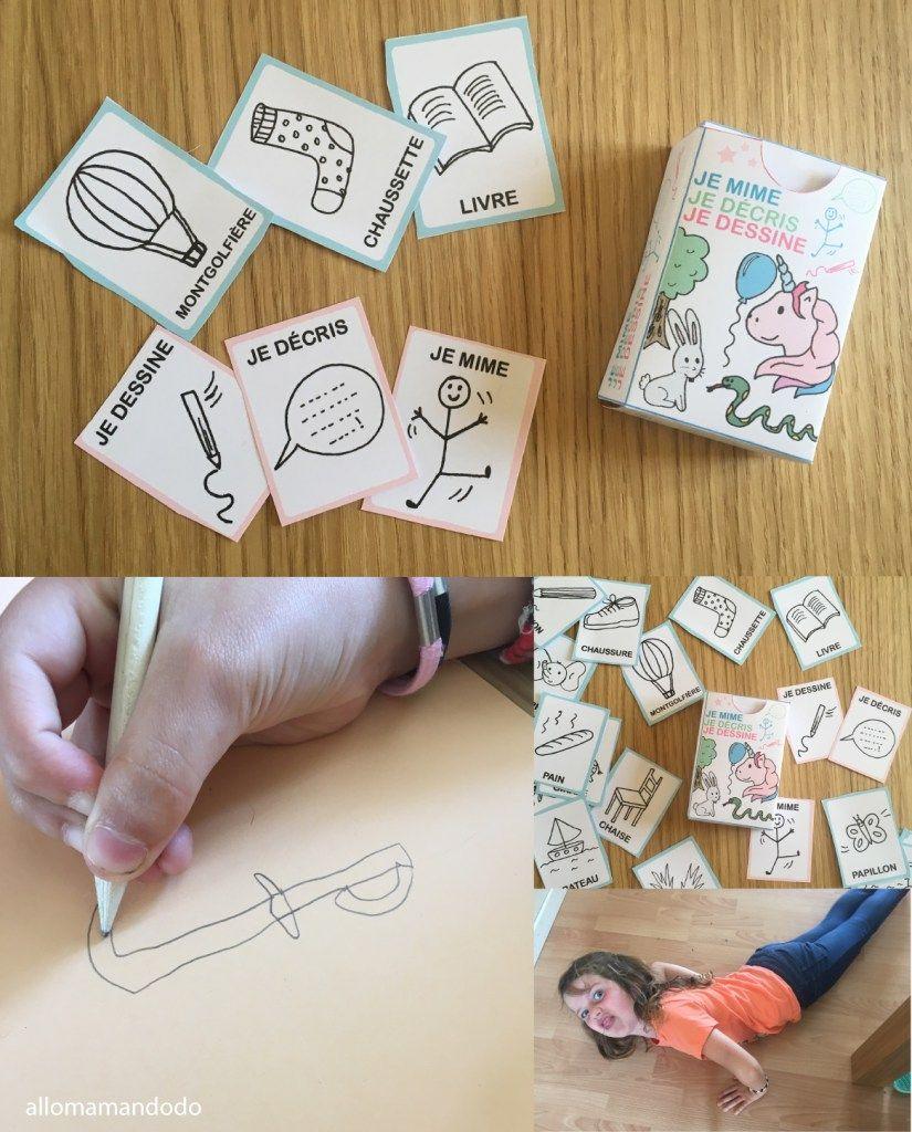 """Jeu """"je Mime, Je Décris, Je Dessine"""" À Imprimer (#gratuit tout Jeux Petite Fille Gratuit"""