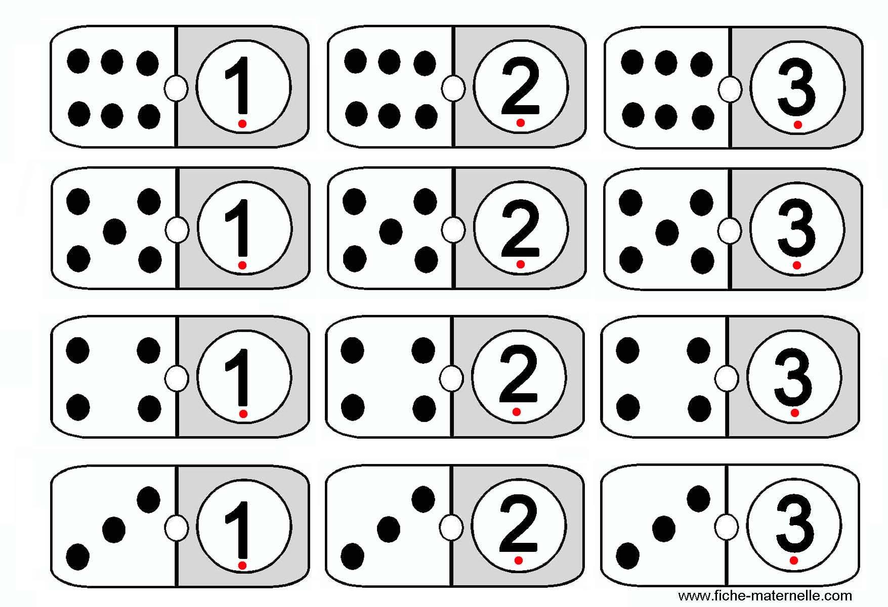 Jeu Mathématiques En Maternelle Et Cp : Les Dominos concernant Jeux De Maternelle À Imprimer