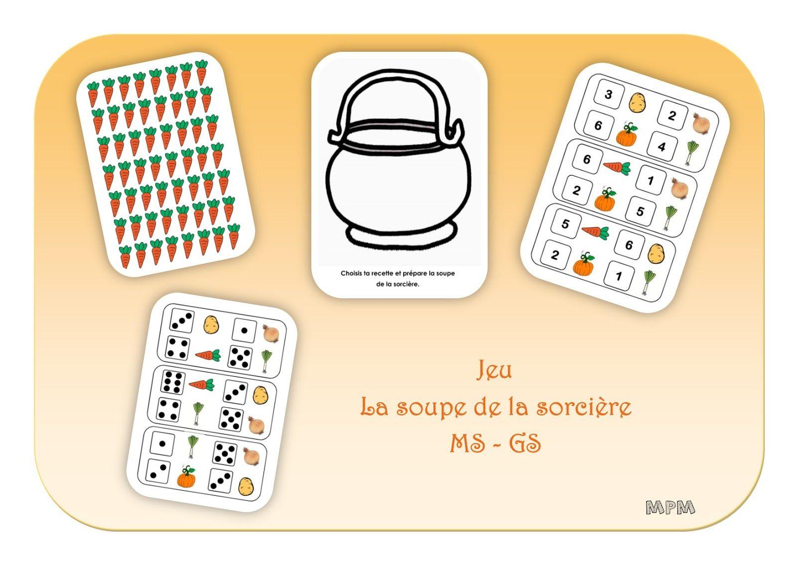Jeu Numérique - La Soupe De La Sorcière Ms-Gs | Activité à La Sorciere Tambouille