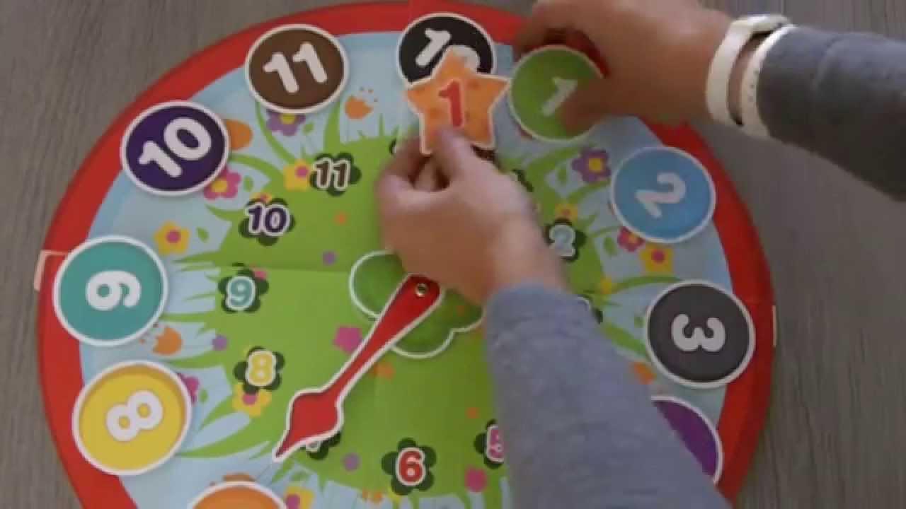 Jeu Pour Apprendre L'heure À Un Enfant Dès 3 Ans destiné Jeux De Intelligence De Fille