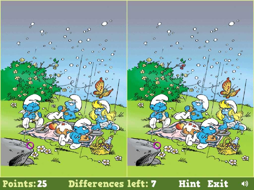 Jeu Schtroumpf Smurfs Spot The Difference / Jeuxgratuits avec Jeux Des Differences Gratuit
