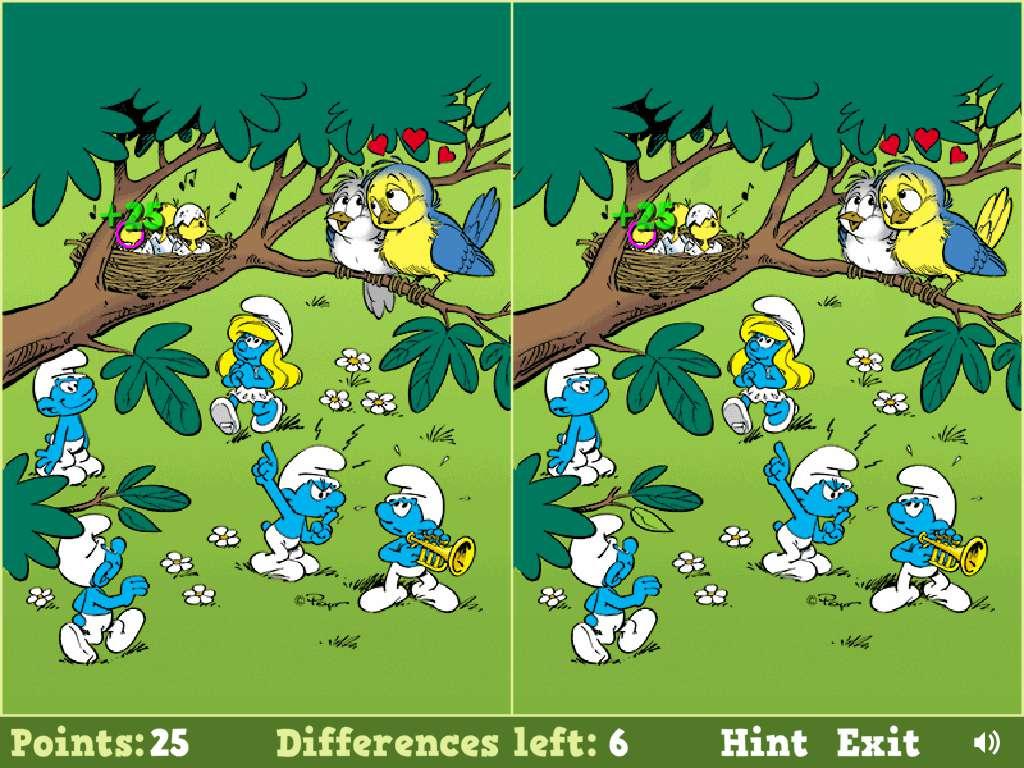 Jeu Schtroumpf Smurfs Spot The Difference / Jeuxgratuits destiné Jeux De Différence