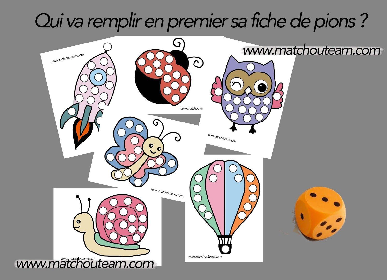 Jeu Sur Le Dénombrement (Ma Tchou Team)   Jeux Maternelle concernant Jeux De Maternelle À Imprimer