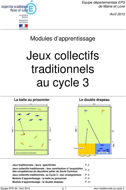 Jeux Collectifs Traditionnels Au Cycle 3 - Pdf avec Jeux Collectifs Cycle 3 Sans Ballon