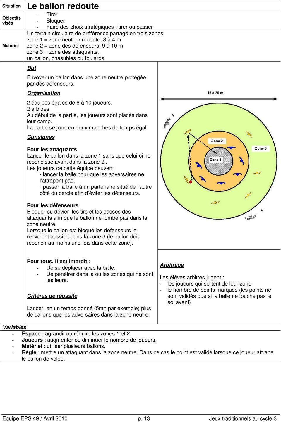 Jeux Collectifs Traditionnels Au Cycle 3 - Pdf concernant Jeux Collectifs Cycle 3 Sans Ballon