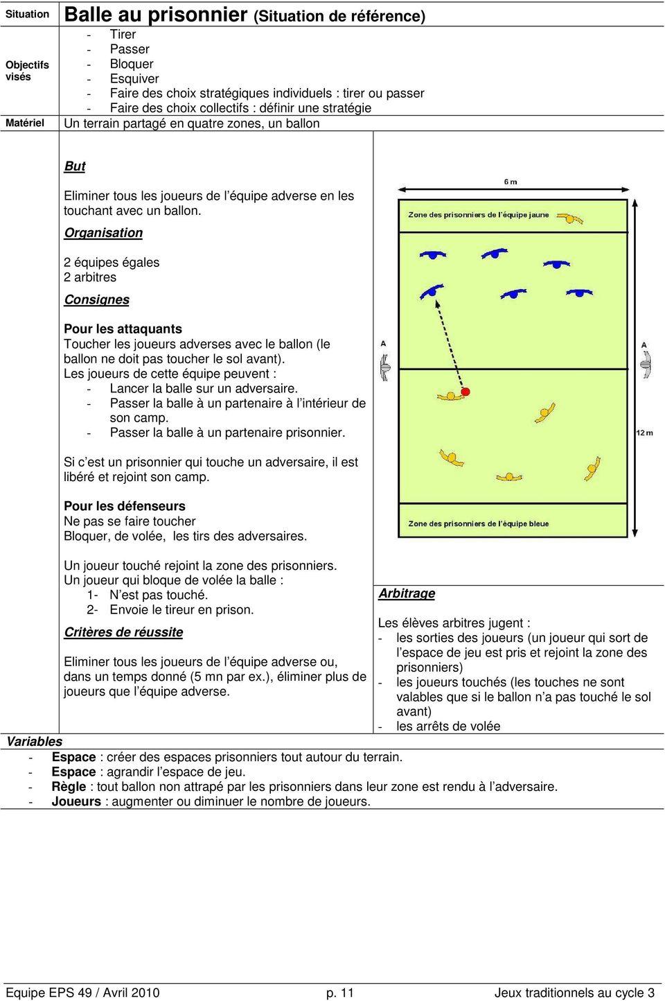 Jeux Collectifs Traditionnels Au Cycle 3 - Pdf serapportantà Jeux Collectifs Cycle 3 Sans Ballon