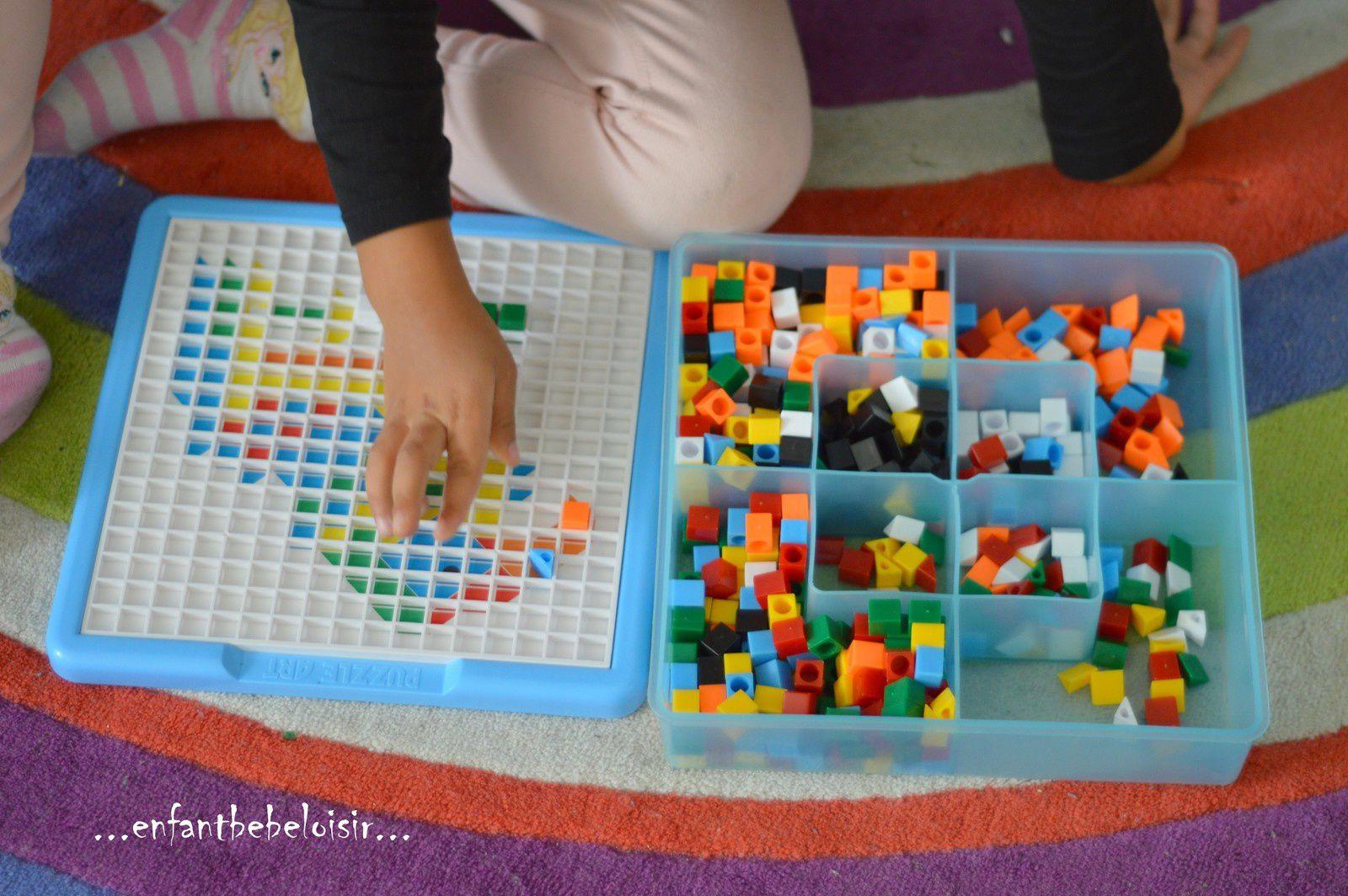 Jeux D'apprentissage Des Couleurs - Mozaïques - Enfant Bébé intérieur Jeux Pour Apprendre Les Couleurs