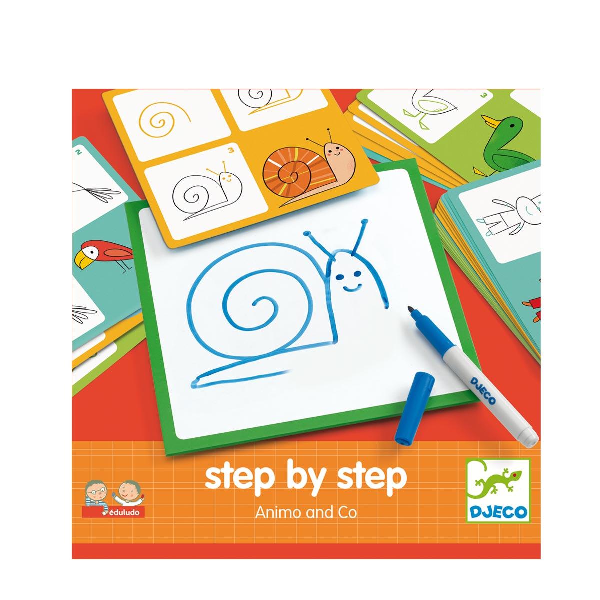Jeux De Dessin Step By Step Les Animaux à Apprendre Les Animaux Pour Bebe
