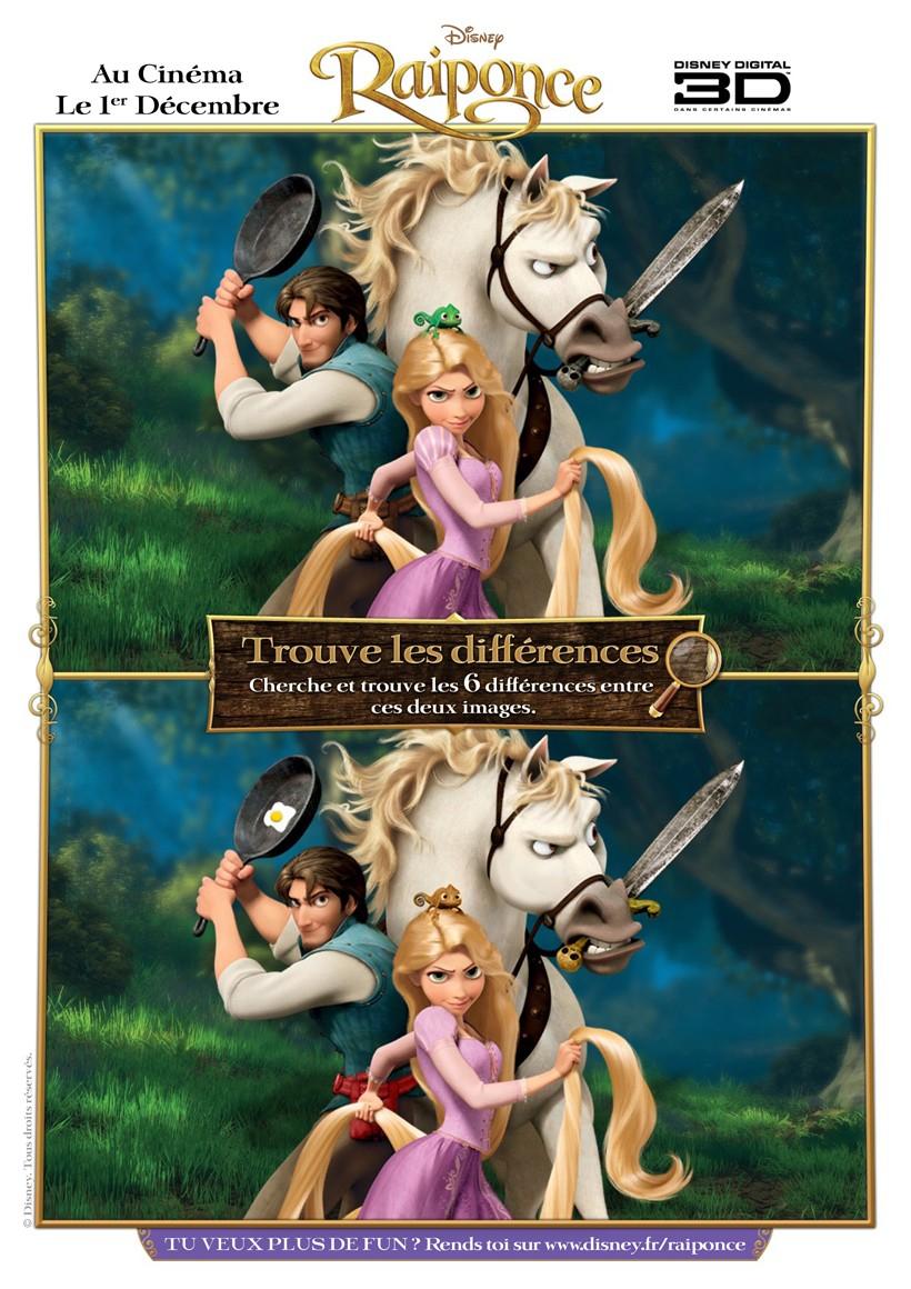 Jeux De Jeu Des Différence Raiponce - Fr.hellokids pour Jeux De Différence
