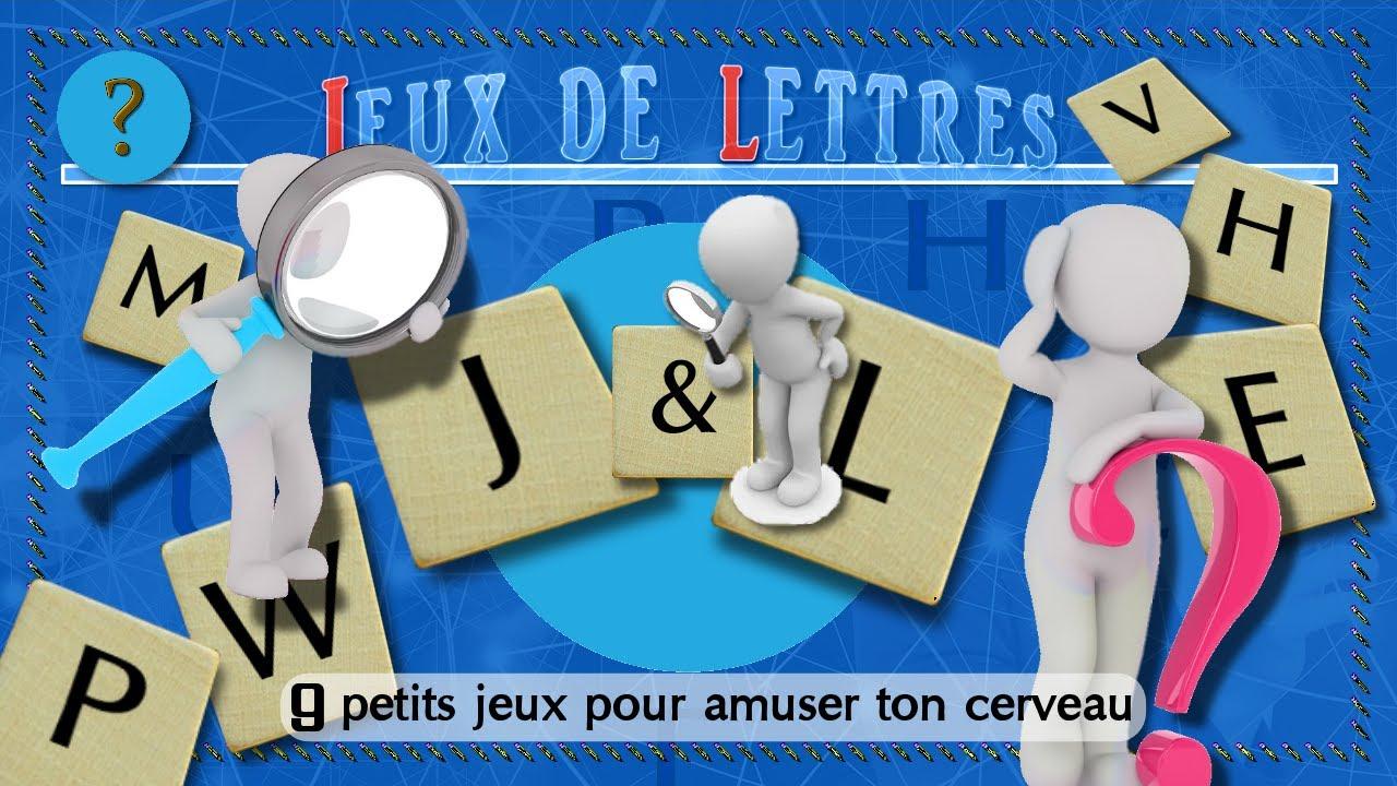 Jeux De Lettres. 9 Petits Jeux Pour Amuser Ton Cerveau. Jeu Gratuit. Jeux &  Logique dedans Jeux De Lettres Gratuits