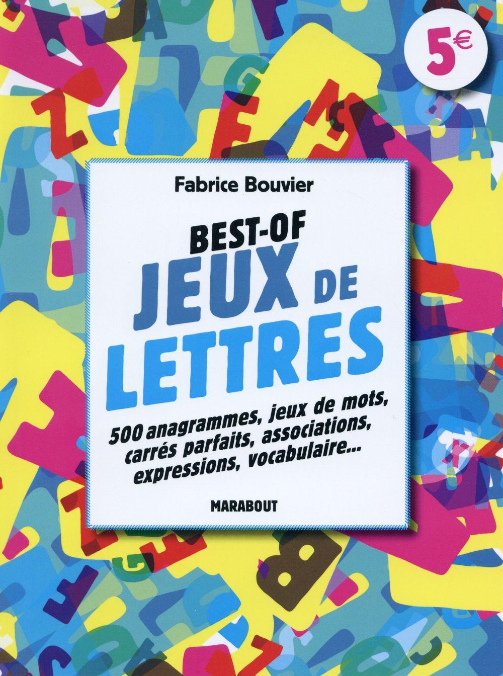 Jeux De Lettres - Fabrice Bouvier - Marabout - Grand Format - Le Hall Du  Livre Nancy destiné Jeux De Lettres Gratuits