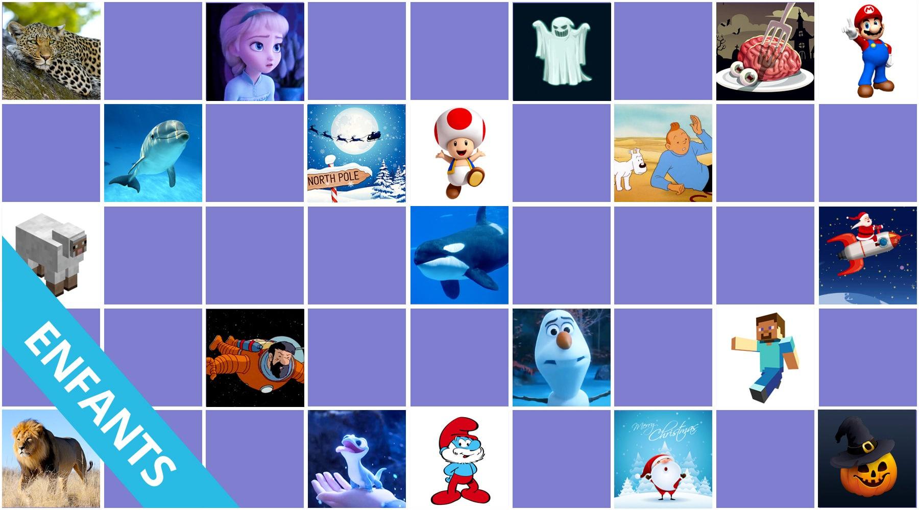 Jeux De Memory Pour Les Enfants - En Ligne Et Gratuits intérieur Jeux Enfant Gratuit En Ligne