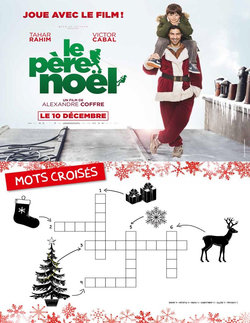 Jeux De Mots-Croisés Le Père Noël, Le Film - Fr.hellokids avec Mots Croisés Noel